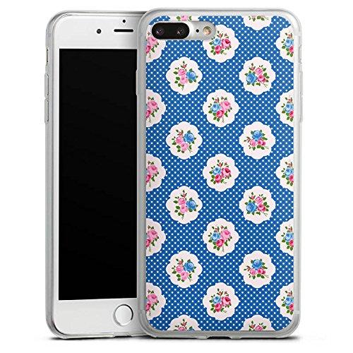Apple iPhone 8 Plus Slim Case Silikon Hülle Schutzhülle Blümchen Oktoberfest bayern Silikon Slim Case transparent