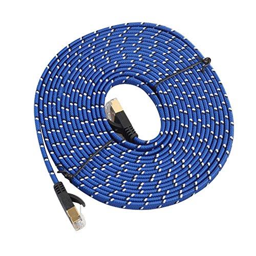 Gebraucht, CAT 7 Ethernet Kabel Ultra Flat Patchkabel für Modem gebraucht kaufen  Wird an jeden Ort in Deutschland