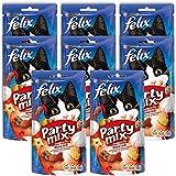 FELIX Party Mix Saveur Grillade : Boeuf, Poulet, Saumon - 60 g - Friandises pour chat - Lot de 8