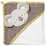 Fehn 064179 Kapuzenbadetuch Australia - Bade-Poncho aus Baumwolle mit süßem Koala für Babys und Kleinkinder ab 0+ Monaten - Maße: 80 x 80 cm
