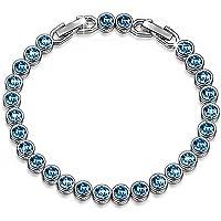 Susan Y Ozean Traum Damen Tennis Armband mit Swarovski Steinen Blau, Kommt in Geschenkbox, Nickelfrei Bestanden SGS Test