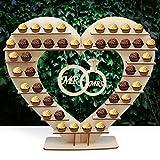 Support AerWo pour Ferrero Rocher - En forme de cœur - Deux anneaux suspendus « Mr » et « Mrs » - Décoration de table pour mariage