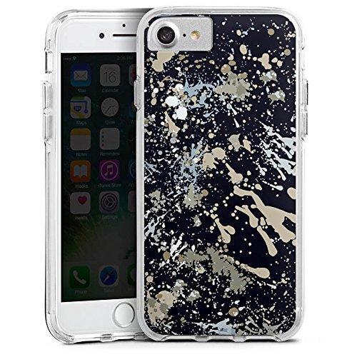 Apple iPhone 6 Bumper Hülle Bumper Case Glitzer Hülle Camouflage Farbklekse Pattern Bumper Case transparent