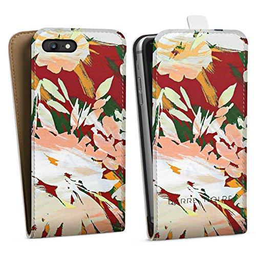 Apple iPhone X Silikon Hülle Case Schutzhülle Blumen Muster Blume Downflip Tasche weiß