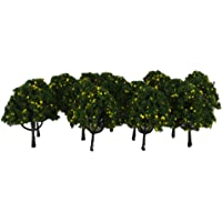 Imported 20pcs Model Train Yellow Fruit Trees Garden Street Layout Scale 1/100 6CM