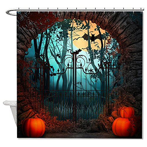 warrantyll Kürbisse Tor zu der Halloween Polyester Duschvorhang wasserdicht 182,9x 182,9cm