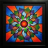 Moderne malerei : Leuchtend (32,9 x 32,9 cm)