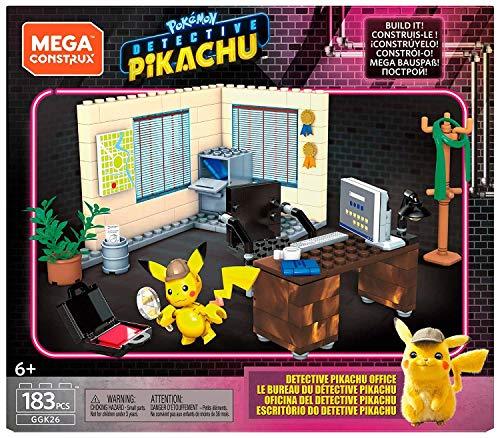 Mega Construx Detective Pikachu Despacho, Juguete de Construcción de la Película para Niños +6 Años (Mattel GGK26)