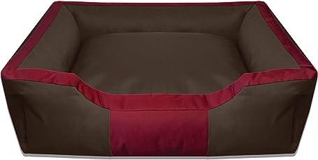 BedDog Hundebett BRUNO/großes Hundekörbchen aus Cordura/waschbares Hundebett vier-eckig mit Rand/Hundesofa für drinnen und draußen