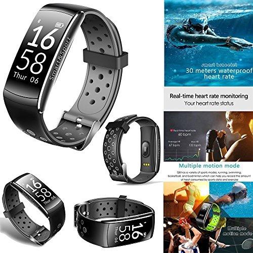 Smart Watch Wasserdicht Ip68 Schwimmen,Aktivitätstracker Mit Pulsmesser Bluetooth Sportuhr Silikon Ständer,Uhr Fitness Tracker Armband Smart Bracelet Wristband Mit Herzfrequenz Damen Herren (Das Kurio Phone Für Kids)