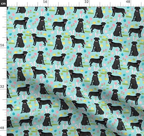 Labor, Labrador, Ostern, Pastell, Frühling Stoffe - Individuell Bedruckt von Spoonflower - Design von Petfriendly Gedruckt auf Performance Piqué