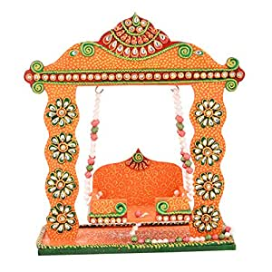 Route To Root Wood Laddu Gopal Ji Jhoola (30cms x 25cms x 11cms, Multicolor)