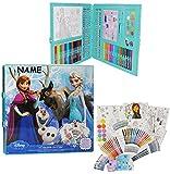 Unbekannt 200 TLG. Set: XXL Stifte-Koffer -  Disney die Eiskönigin - Frozen  incl. Namen - Malkoffer mit Stiften + Öl Pastellkreide + Sticker + Wachsmal Farben - Kind..