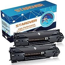 STAROVER 2 Paquetes Cartuchos de tóner negro Reemplazo Compatible para tres modelos de tóner: CE285A (85A) / CB435A (35A) / CB436A (36A) Compatible con HP LaserJet Pro P1102 P1102w M1212nf M1217nfw M1132 M1136 P1005 P1006 P1505 P1505n M1522 M1522nf M1120 M1522n M1120n Impresora Multifunción