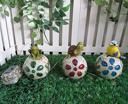 Gardenwize solare LED luce giardino rana uccello