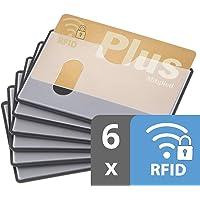 custodia carta contactless | 6x nfc protezione RFID | certificato | inserimento orizzontale | trasparente | custodia…