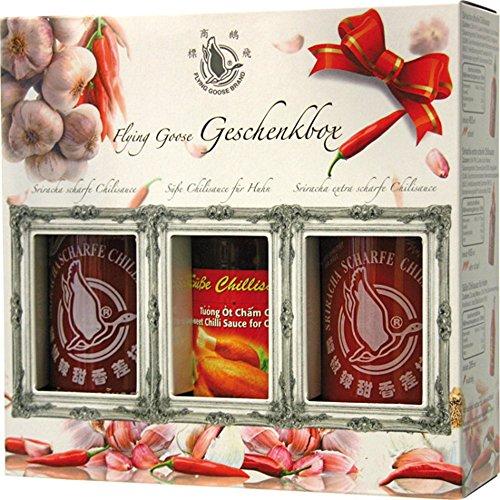 Flying Goose Sriracha Chillisaucen Geschenkbox, 1er Pack (1 x 1.205 l)