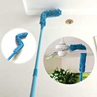 Qwebars Flexible Microfiber Cleaning Duster Brush, Feather Magic Dust Cleaner with Extendable Rod for Ceiling Fan Home…