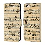Head Case Mozart Partitions Musicales Étui Coque de Livre En cuir pour Apple iPhone 6 / 6s
