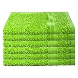 6er Pack / 12er Pack – Gästetücher Set – 6 Gästetücher 30×50 cm – Farbe Apfelgrün - 2
