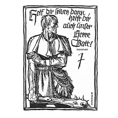 Helf Dir selbst dann helft Dir auch unser Herre Gott - Bauernkrieg Wehrwolf Aufkleber Autoaufkleber Sticker Vinylaufkleber Decal