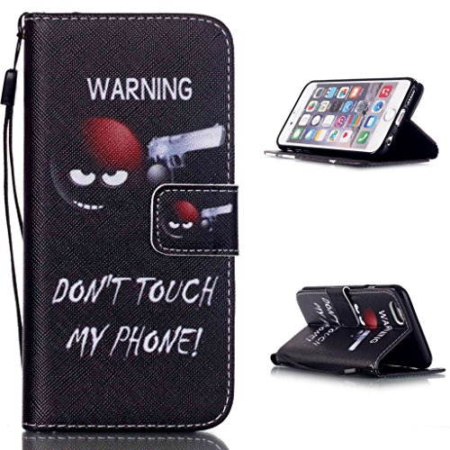 hyait® Case for iPhone 6Plus/6S Plus (5.5Inch) Printing Series Wrist Strap Leather Wallet Card Slot Bracket Flip Back Case Cover yb12 YB02 #0305