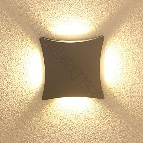 ZHGI Unione-LED stair corridoio square lampada da parete luci esterne luci da giardino