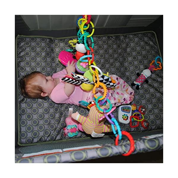 YeahiBaby 24pcs Baby Teether Ring Link Rings Toys Infant Links Rattle Strollers Crib Travel Toys 3