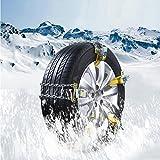 KRISMILEN Winter Universal Autoreifen Schneeketten 6 Stück SUV Schnee Notfall Auto mit Manganstahl Kette , middle