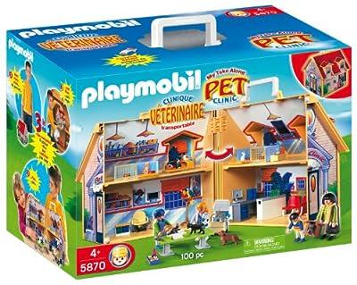 Zoo: clínica veterinaria, maletín de Playmobil (5870)