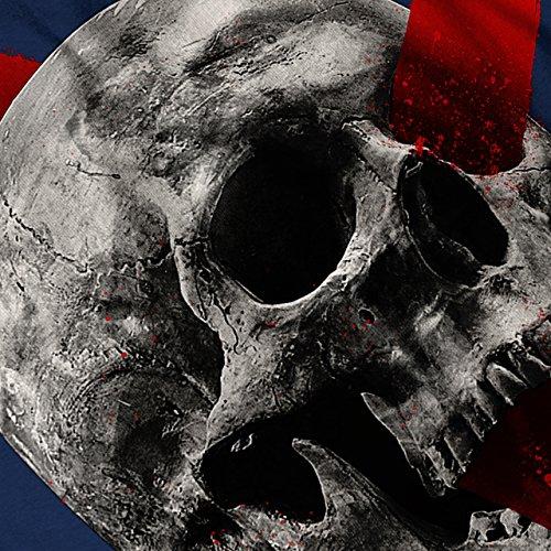 Skelett Rock Schädel Kreuz Konzert Damen Schwarz S-2XL Muskelshirt | Wellcoda Marine