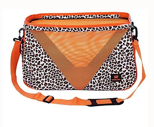 Tier Drucken Schulter Tasche (Haustier Träger Travel Breathable Comfort Leopard drucken Hund Katze Totalisator Tasche MG-868 , l)