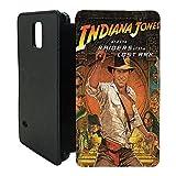 Handy Tasche Case Flip für Samsung S6, Filmposter A1277–Indiana Jones