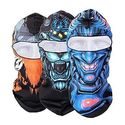 ADAALEN Männer Frauen Winter Ansatz Gesichtsmaske gedruckt Skifahren Hut Radfahren Caps