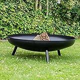 Braséro de jardin Robusta - Ø100 x 20cm e 3,5mm gros acier - couleur noire