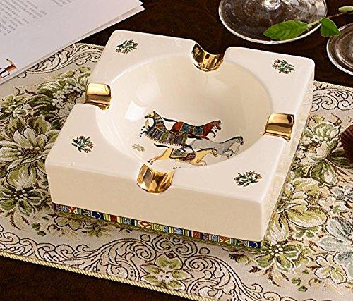 YHG cenicero cerámica estilo europeo lujo/lujo/cenicero