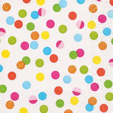 20 Servietten bunte Partypunkte / gepunktet / Muster / zeitlos 33x33cm