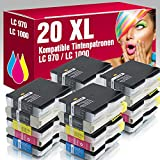 ms-point® 20x kompatible Druckerpatronen LC970 LC1000 für Brother DCP-135C DCP-150C DCP-153C DCP-157C MFC-235C MFC-260C DCP-130C DCP-330C DCP-330CN DCP-350C DCP-350CJ DCP-353C DCP-357C DCP-525C DCP-525CJ DCP-530CJ DCP-535C DCP-535CN DCP-540CJ DCP-540CN DCP-550CJ DCP-560CN DCP-660CN DCP-680CN DCP-750CW DCP-770CW MFC-240C MFC-3360C MFC-440CN MFC-465CN MFC-5460CN MFC-5860CN MFC-660CN MFC-665CW MFC-680CN MFC-685CW MFC-845CW MFC-885CW Intellifax 1860C 1960C 2480C 2580C