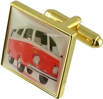 Select Gifts Gold Vw Wohnmobil Neuheit Manschettenknöpfe Mit Tasche Bekleidung