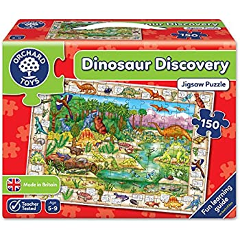 Orchard toys dinosaur discovery jigsaw puzzle amazon toys orchard toys dinosaur discovery jigsaw puzzle gumiabroncs Image collections