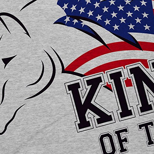 style3 King of the Road Damen T-Shirt Amerika America Muscle Car Grau Meliert