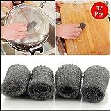 Yongse Herramienta 12PCS melamina de la esponja de malla metálica Súper detergente de cocina de acero desgrasar pelo de Limpieza