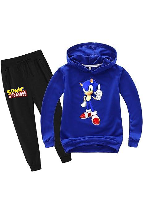 Felpa con cappuccio e pantaloni sottili SUPFANS Sonic The Hedgehog
