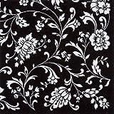 Servietten, schwarz-weiß, Arabesque, 20 Stück, 33x33cm