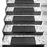 Torrex 30096–Nivel Estera de goma–65x 25cm–Con Ángulo De Borde, antideslizante, para escaleras de interior y exterior Escaleras Matte