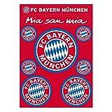FC Bayern München Aufkleberbogen / Aufkleber / Sticker 9er Set FCB