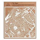 Amsterdam Carta taglio mappa bianco 30x30 centimetri carta arte
