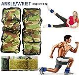 Muñeca tobillo Kemket de Fitness gimnasio Entrenamiento resistencia el Stength 2 kg,...