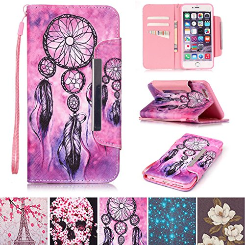 Apple Iphone 5 Shell (iPhone 5/5S Fall, iPhone SE Fall, [Slots] [Standfuß] Flip Folio Brieftasche Fall Kunstleder Shell kratzfest Schutzhülle für Apple iPhone 5/5S SE Apple iPhone 5/5S/SE Net)