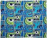 Character World Disney Monsters University Rotary Fleece Blanket, Multi-Color